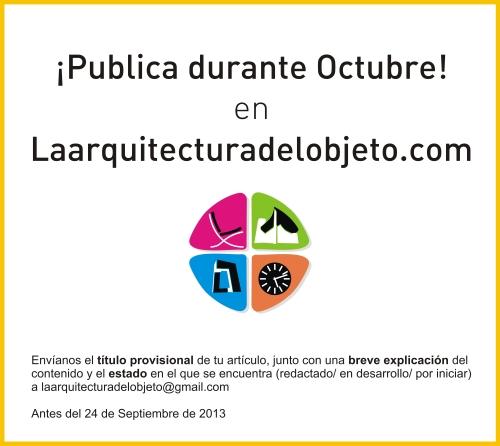 La arquitectura del objeto Participación Octubre 2013