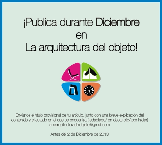 Publicación Diciembre La arquitectura del objeto
